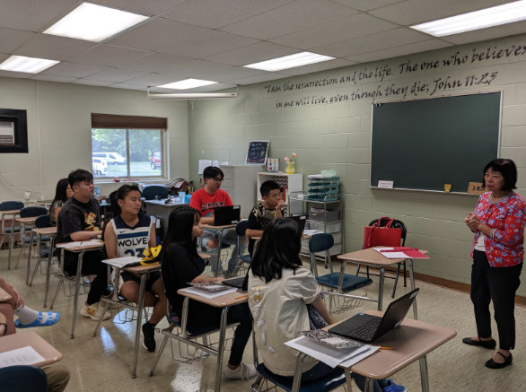 Lớp học tại Michigan Lutheran High School