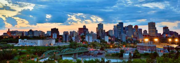 Một góc nhỏ thành phố Edmonton- bang Alberta