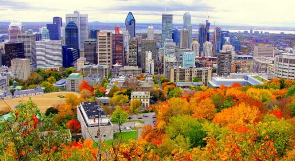 Thành phố Montreal vào mùa xuân